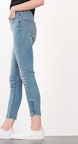 Esprit OUTLET cropped stretch jeans with hem zips