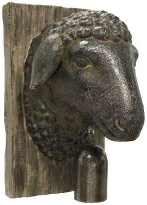 Sagebrook Home Sheep Head With Bell Wall Decor Animal