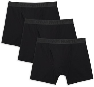Off-White 3-Pack Stretch Cotton Boxer Shorts