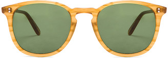 Garrett Leight Kinney in Butterscotch & Pure Green | FWRD