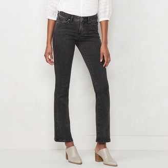 Lauren Conrad Women's Feel Good Mid-Rise 5 Pocket Barely Bootcut Jeans