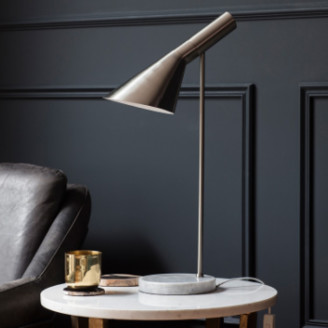 Grace and Grey - Metal and Marble Retro Style Table Lamp