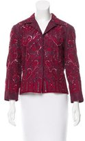 Alberta Ferretti Sequin Embellished Embroidered Cardigan
