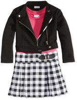 Sweet Heart Rose Skater Dress and Jacket, Little Girls (2-6x)