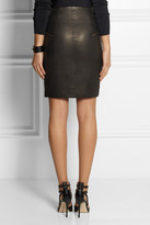 J Brand Maxine zip-front leather skirt