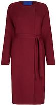 Winser London Milano Wool Wrap Coat, Rich Burgundy