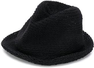 Yohji Yamamoto Crocheted Fedora Hat