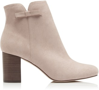 Forever New Briana Side Bow Ankle Boots - Blush - 38