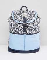 Jack Wills Floral Color Block Backpack