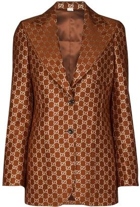 Gucci GG motif single-breasted blazer