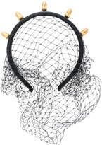 RED Valentino acorn detail net hairband
