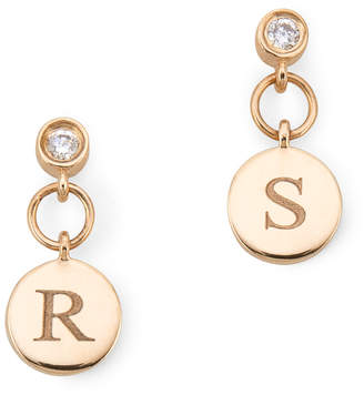 Sophie Ratner Diamond Charm Stud Earrings