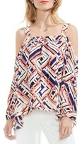 Vince Camuto Women's Geo Print Off The Shoulder Blouse