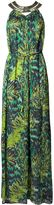 Matthew Williamson Tiger Palm Emerald Embellished Gown