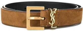 Saint Laurent logo belt