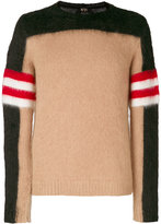 No.21 colour block jumper - men - Polyamide/Mohair/Wool/Virgin Wool - 48