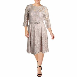 Jessica Howard Women's Beaded Waist Dress