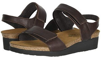 Naot Footwear Aisha - Wide (Black Velvet Nubuck/Black Madras Leather) Women's Shoes