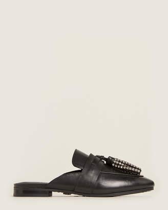 Kurt Geiger Black Kaiser Leather Loafer Mules