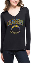 '47 Women's San Diego Chargers Splitter Arch Long-Sleeve T-Shirt