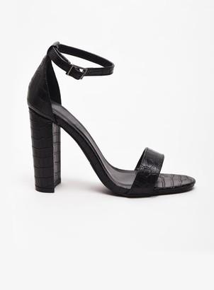 Evans **Alice & You Wide Fit Black Heeled Sandals