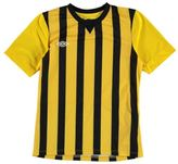 Umbro Kids Stripe Short Sleeve Jersey Junior Performance Shirt Crew Neck