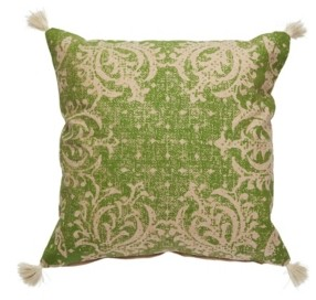 Jaipur Living Verdi Green/Beige Damask Down Throw Pillow 22""