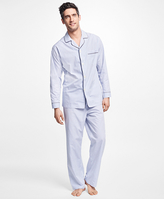 Brooks Brothers Alternating Framed Stripe Pajamas