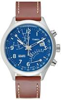 Timex Iq Chronograph Watch Blue