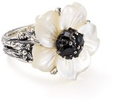 Stephen Dweck Black Sapphire Flower Cocktail Ring — 100% Exclusive