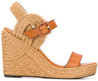 Jimmy Choo Delphi 100mm wedge sandals