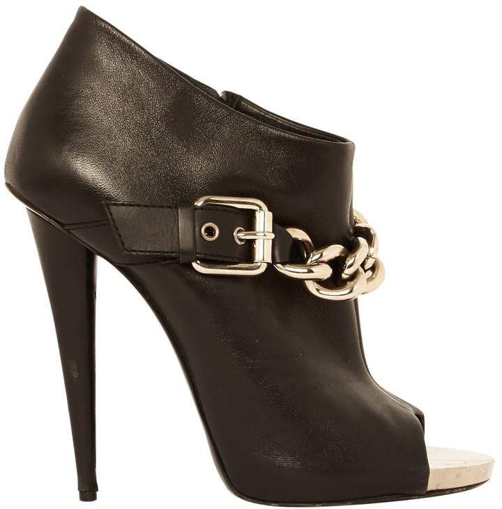 Giuseppe Zanotti Open Toe Boots In Leather