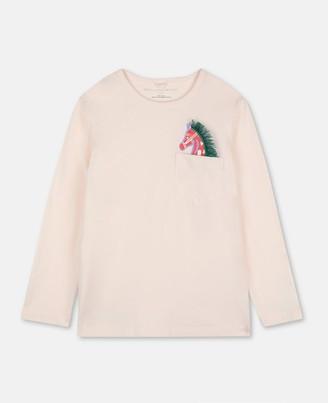 Stella Mccartney Kids Stella McCartney horse cotton t-shirt