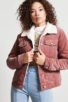 Forever 21 Faux Shearling Velvet Jacket