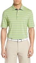 Bobby Jones Men's Xh20 Coney Stripe Stretch Golf Polo