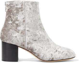 Rag & Bone Drea Crushed-velvet Ankle Boots