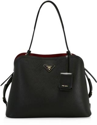 Prada Medium Matinee Leather Top Handle Bag