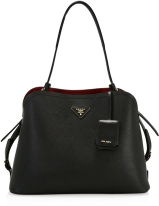 Prada Medium Matinee Leather Top Handle Tote