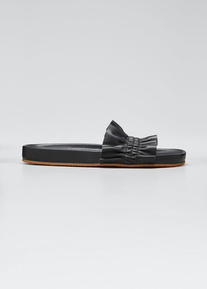 Ulla Johnson Rex Ruffle Beach Slide Sandals