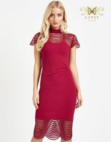 Lipsy Vip Sequin Lace Detail Shift Dress
