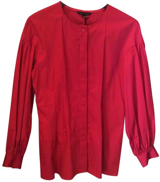 Tara Jarmon Red Cotton Top for Women