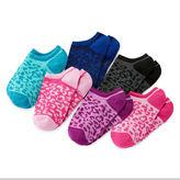JCPenney Total Girl 6-pk. Cheetah-Print No-Show Socks - Girls 7-16