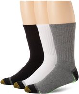 Gold Toe Men's 3-Pack Cushion Crew Athletic Sock