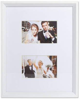 """Lawrence Frames Wide Border Double Matted Frame - Gallery White 11"""" x 14"""" - 4"""" x 6"""""""