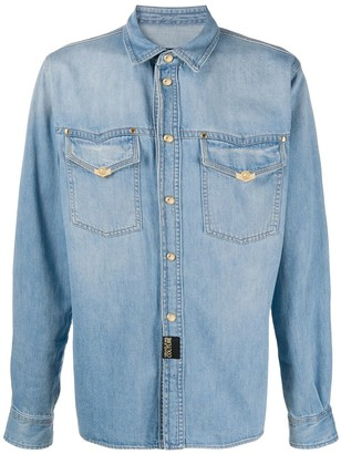 Versace Long Sleeve Denim Shirt