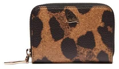 Christian Louboutin Panettone Leopard Print Leather Coin Purse - Womens - Leopard