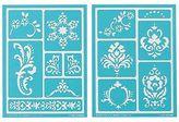 Martha Stewart Crafts Adhesive Stencils (5.75 By 7.75-inch), 32268 13 Scrolls