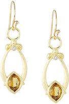 Jude Frances Open Marquise Fleur Citrine Earrings w/ Diamonds