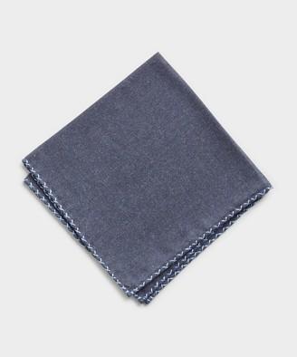 Mungai Cotton Flannel Pocket Square in Indigo