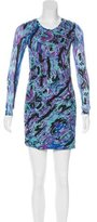 Torn By Ronny Kobo Abstract Print Bodycon Dress w/ Tags